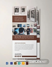 Exhibition Rack Card Template