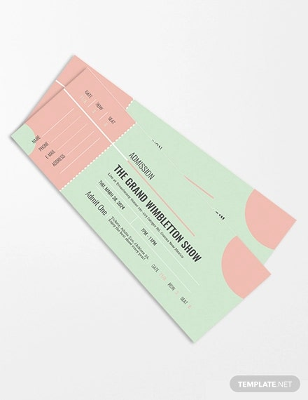 Admission Ticket Template