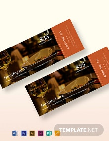 Dinner Ticket Template