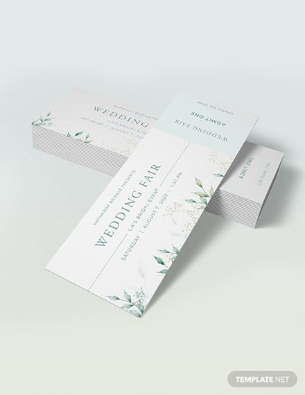 Sample Elegant Ticket