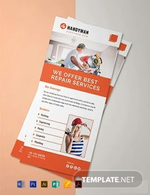Handyman Rack Card Template