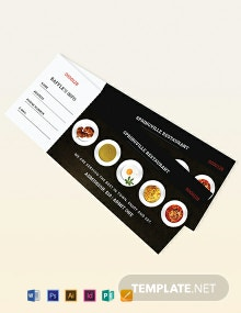 Meal Ticket Template