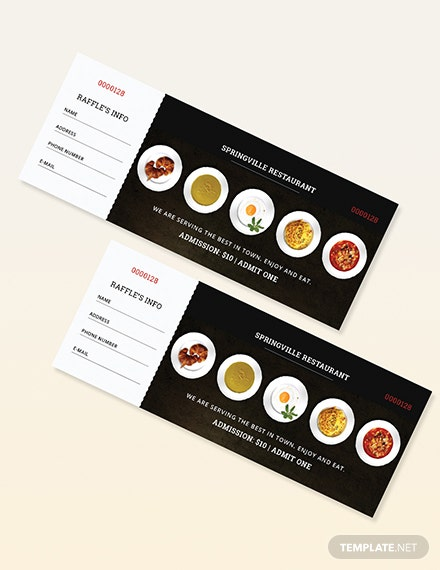 Sample Meal Ticket