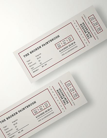 Sample Movie Ticket