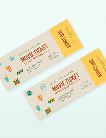 Movie Ticket Invitation Download
