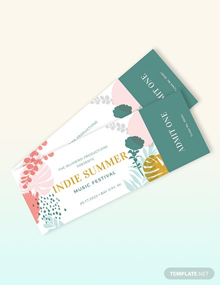 Music Event Ticket Template