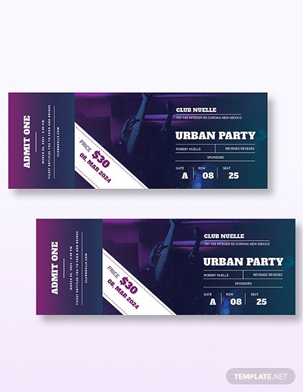 Party Ticket Download