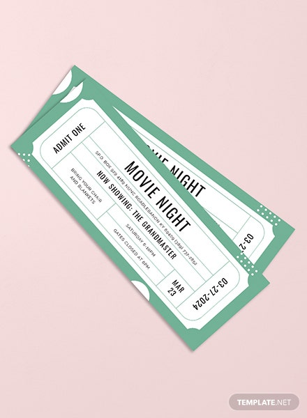 Raffle Movie Ticket Template In PSD Illustrator Word InDesign
