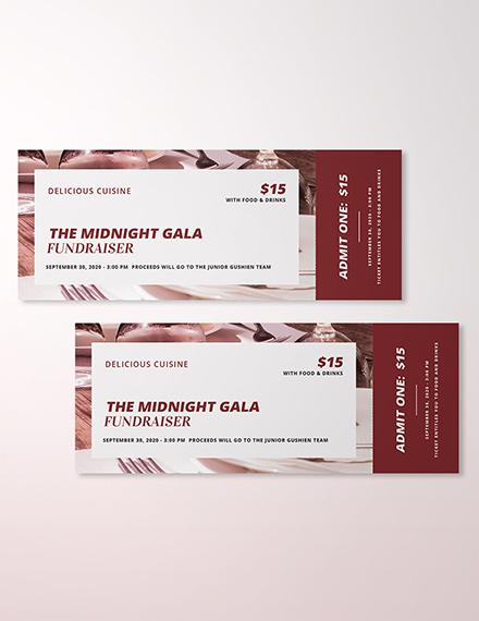 Restaurant Ticket Template In Adobe Photoshop Illustrator InDesign