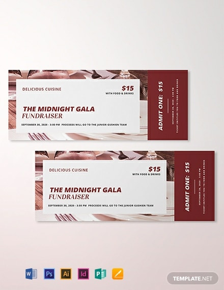 Restaurant Ticket Template