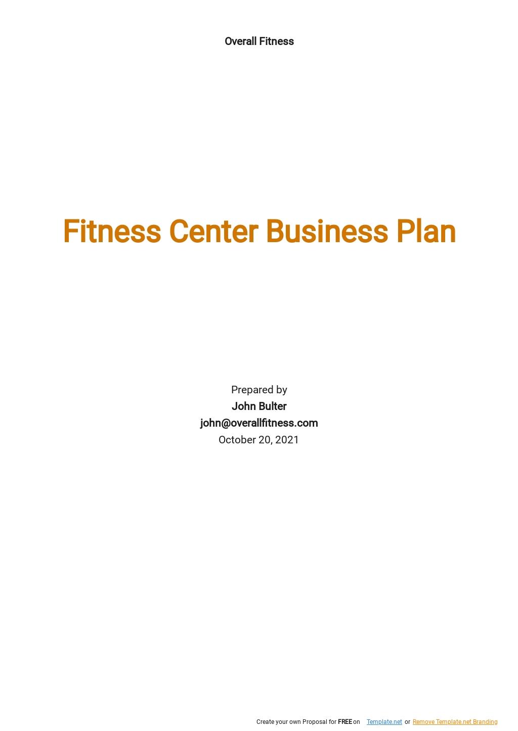 Fitness Center Business Plan Template.jpe