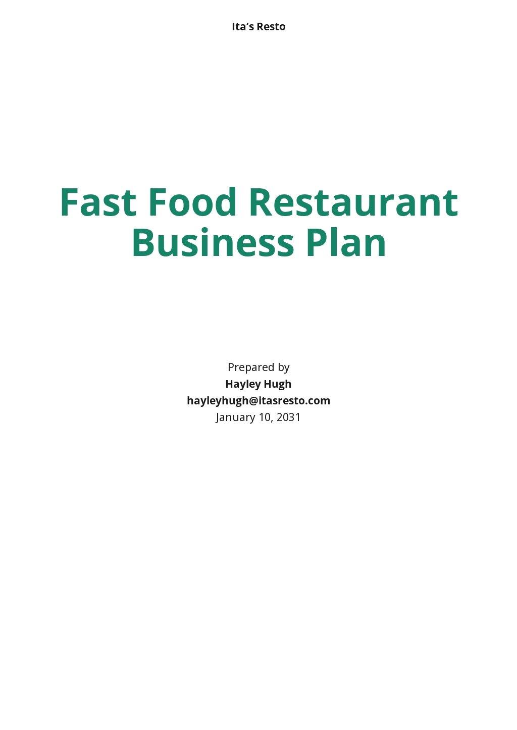 Fast Food Restaurant Business Plan Template.jpe