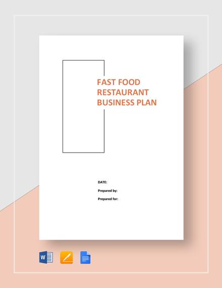 Fast Food Restaurant Business Plan Template