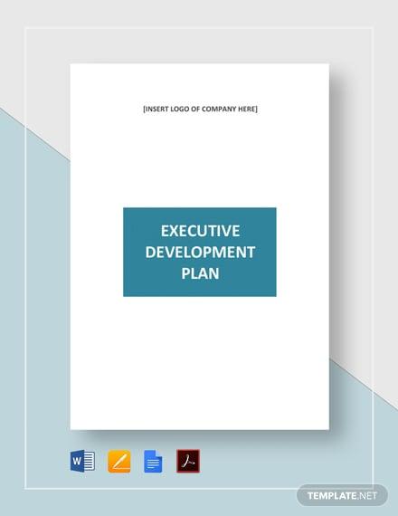 Executive Development Plan Template