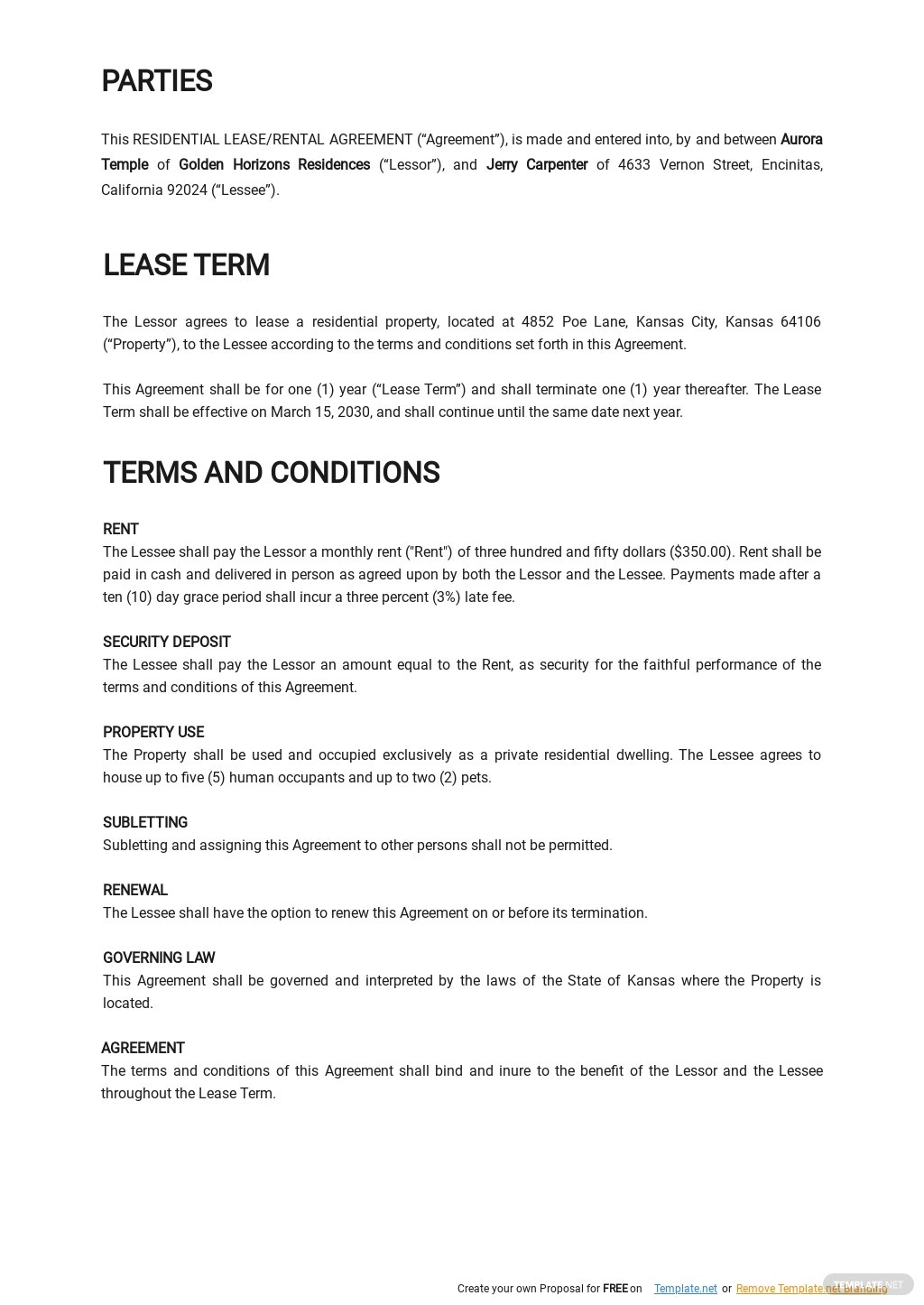 Rental Agreement or Residential Lease Template 1.jpe