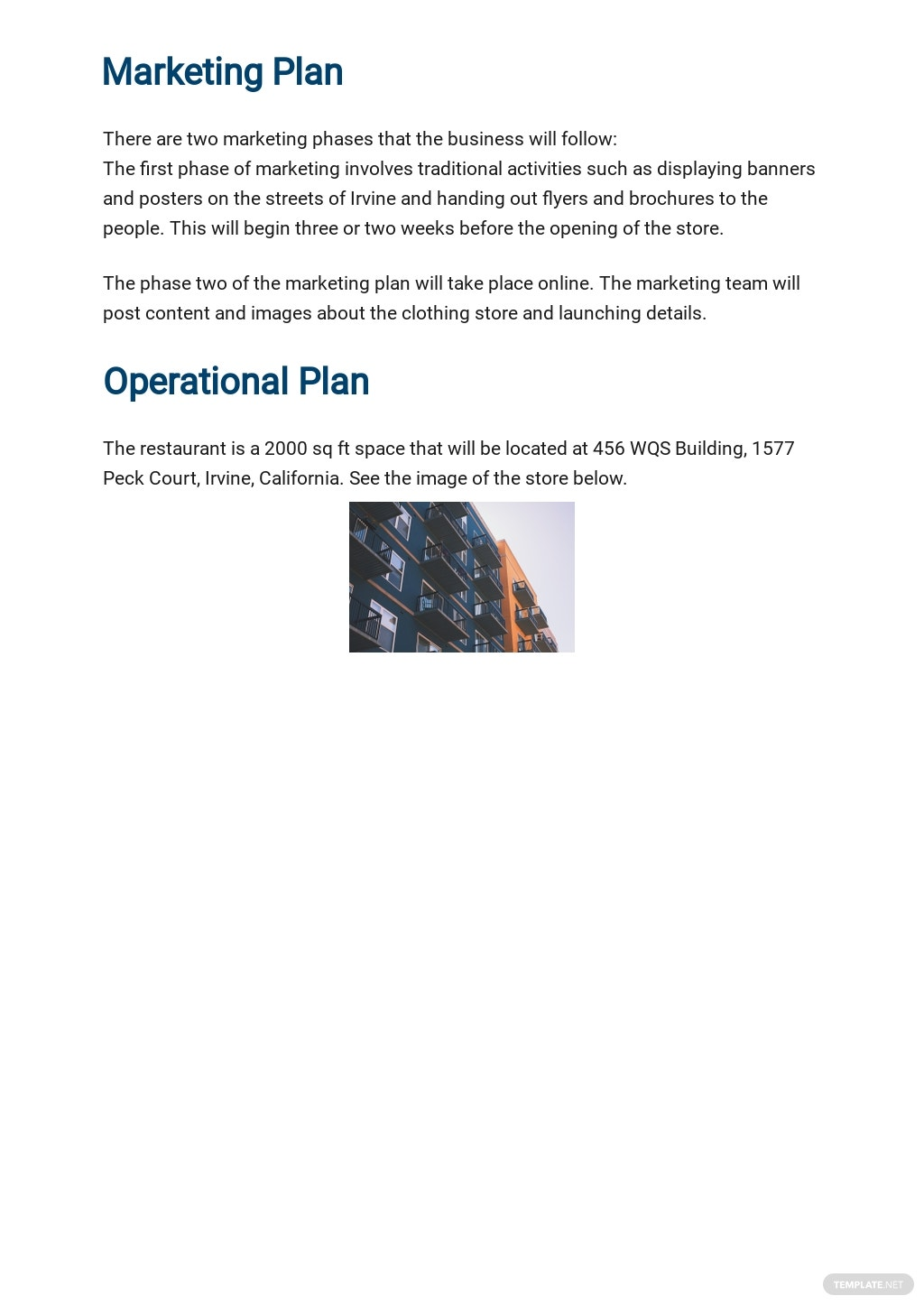 Clothing Store Business Plan Template 4.jpe