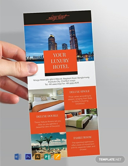 Free Hotel Rack Card Template