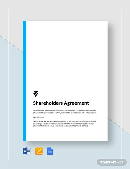 Shareholders Agreement Template