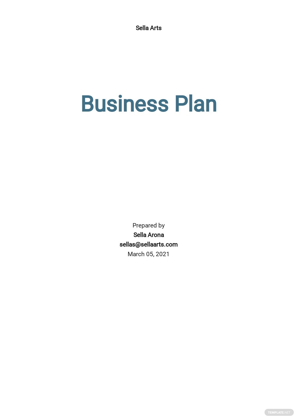 Business Plan Budget Template