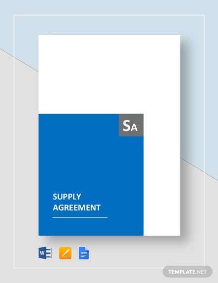 Supply Agreement Template