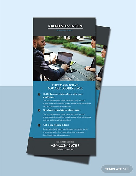 Free Insurance Agent Rack Card Template