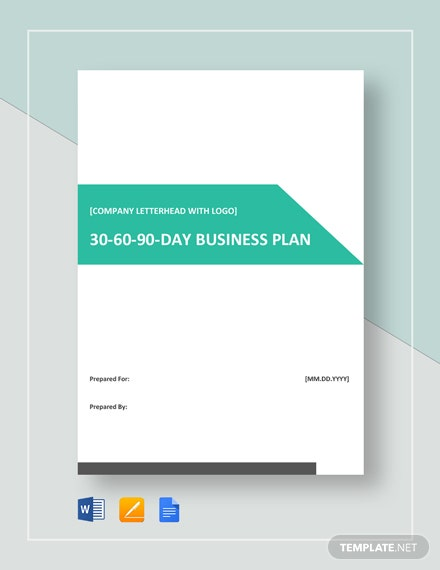 30-60-90-Day Business Plan Template
