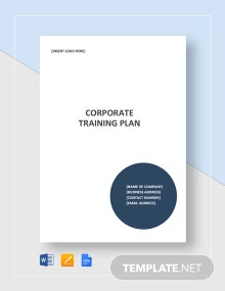 Corporate Training Plan Template
