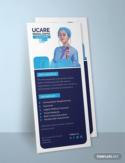 Free Medical Rack Card Template