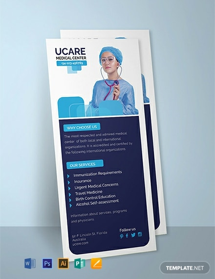 Medical Rack Card Template