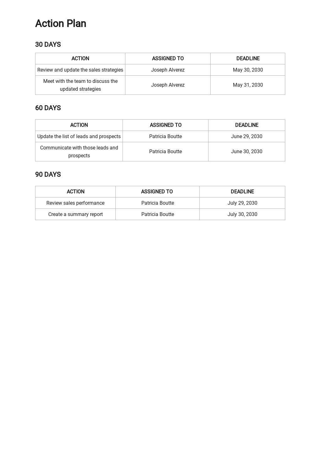 30 60 90 Day Sales Plan Template 2.jpe