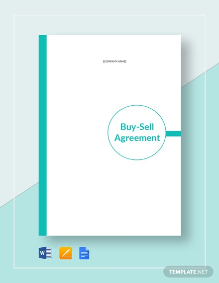 Buy Sell Agreement Template Download 153 Agreements In Microsoft