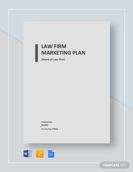 Law Firm Marketing Plan Template