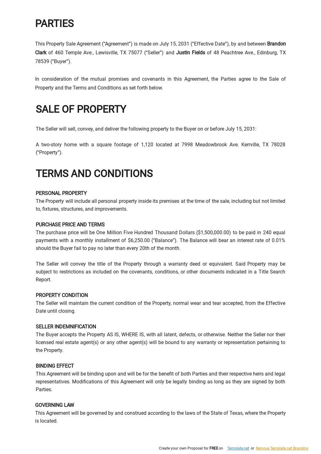 Property Sale Agreement Template 1.jpe