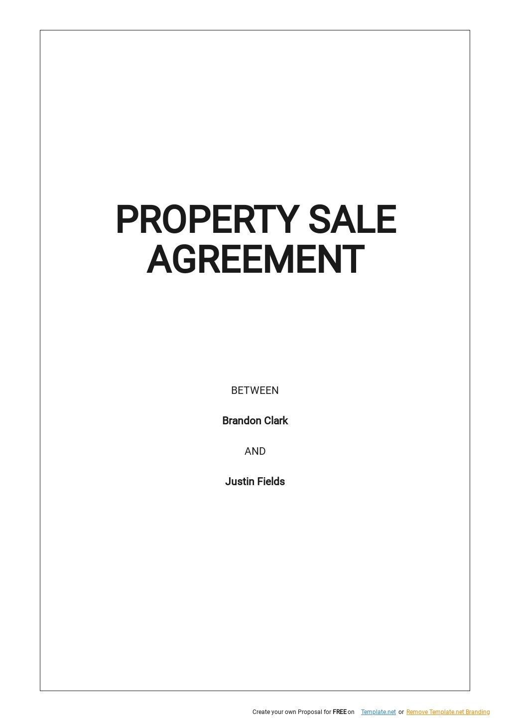 Property Sale Agreement Template.jpe