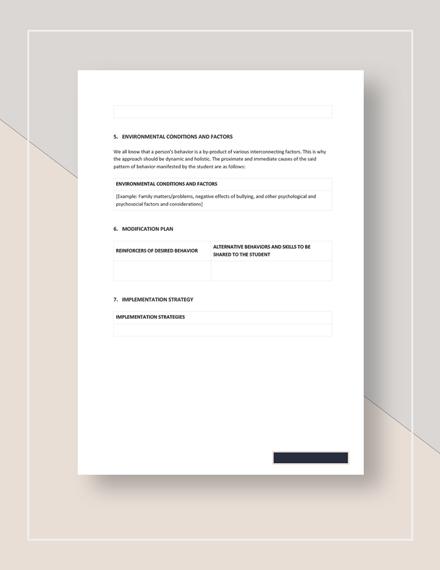 Behavior Modification Plan Download