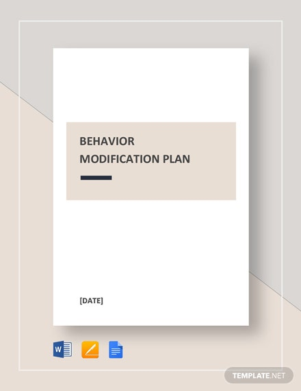 Behavior Modification Plan Template