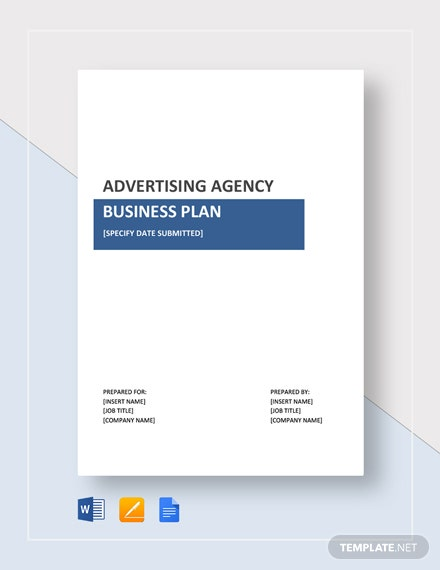 Advertising Agency Business Plan Template Word Google