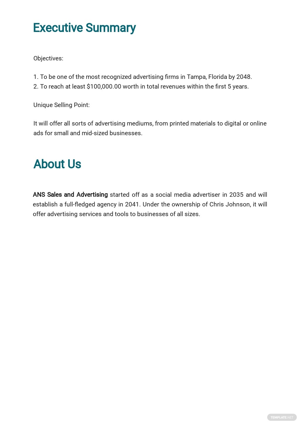 Advertising Agency Business Plan Template 1.jpe