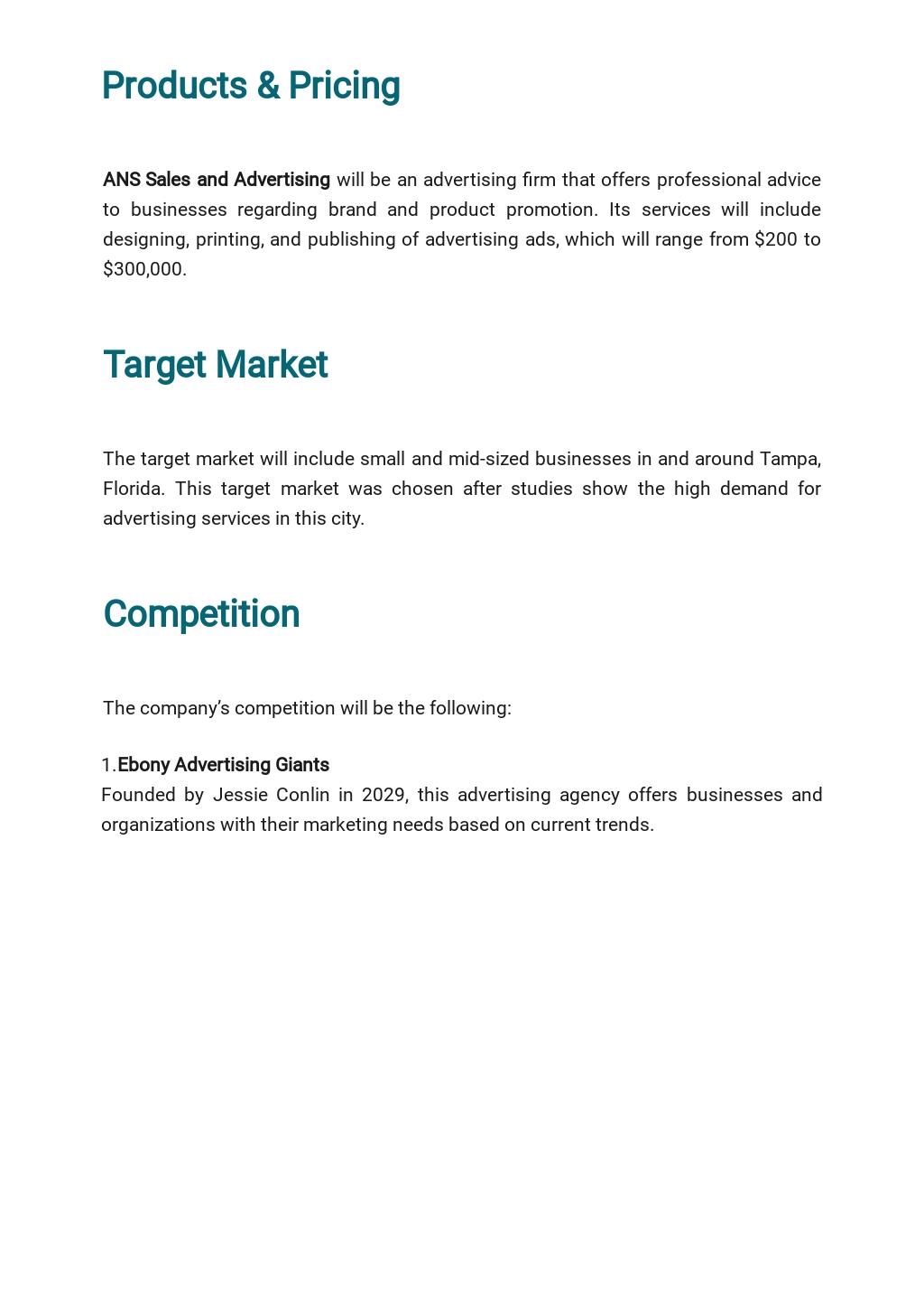 Advertising Agency Business Plan Template 2.jpe
