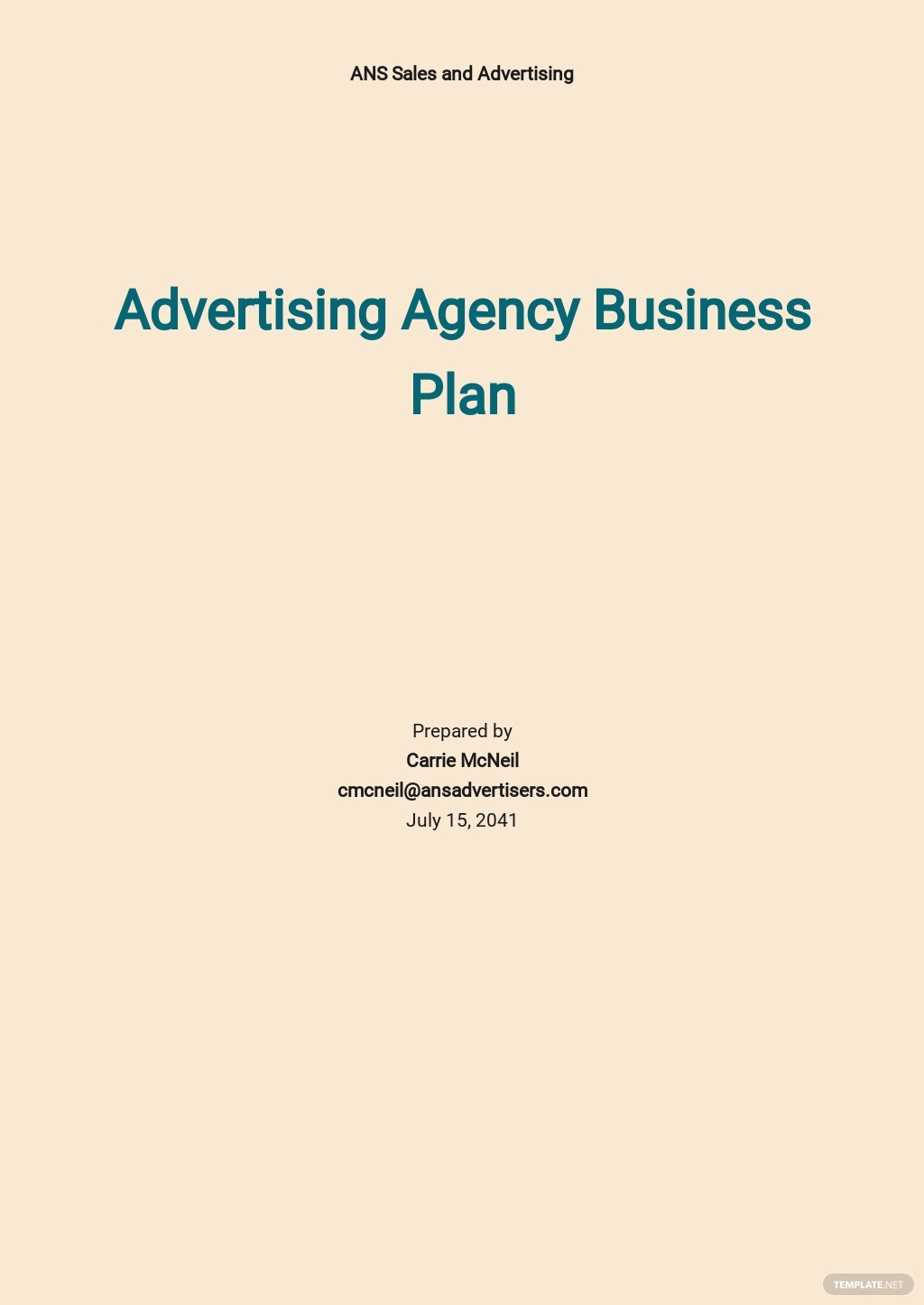 Advertising Agency Business Plan Template