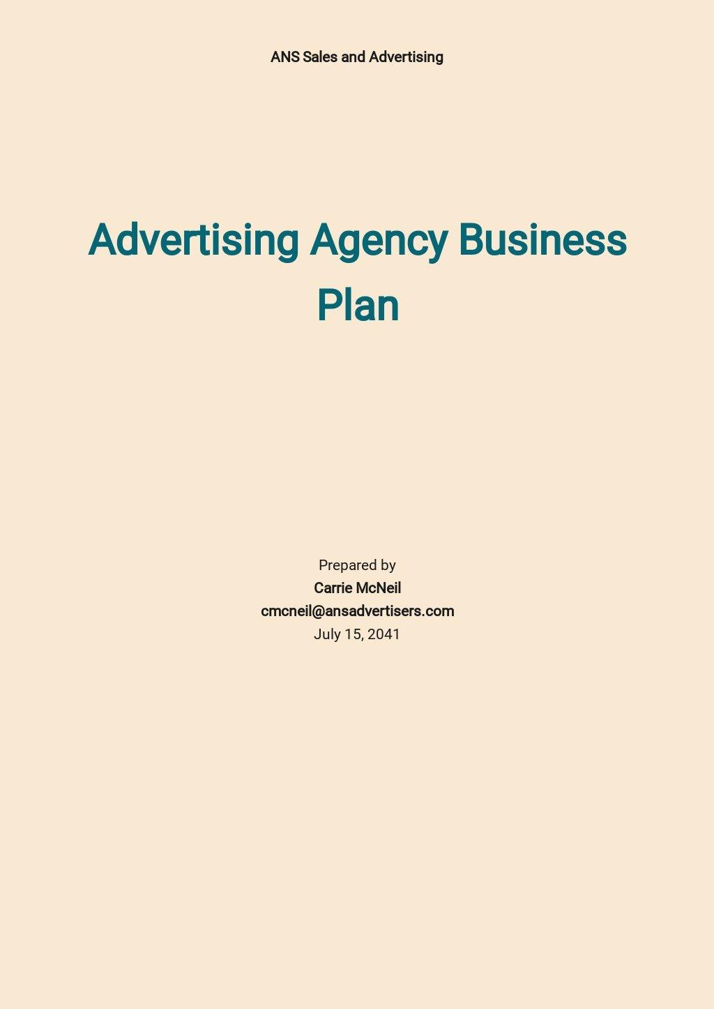 Advertising Agency Business Plan Template.jpe