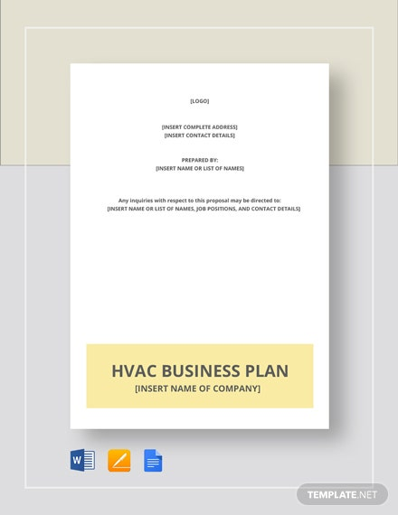 HVAC Business Plan Template
