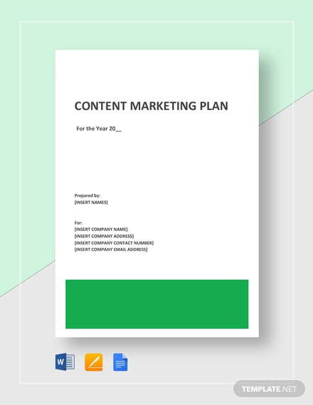 Content Marketing Plan Template