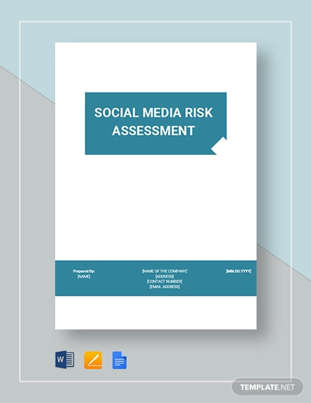 Social Media Risk Assessment Template