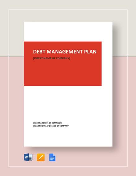 Debt Management Plan Template