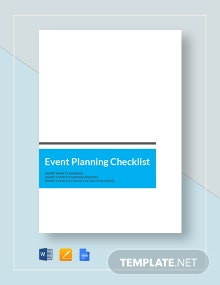 Event Planning Checklist Template