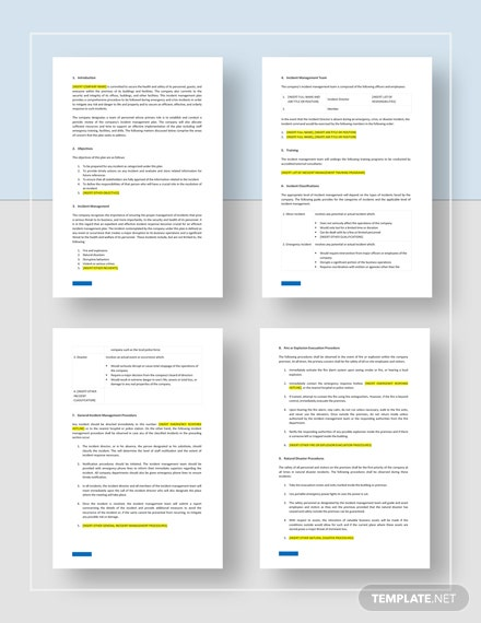 Incident Management Plan Download