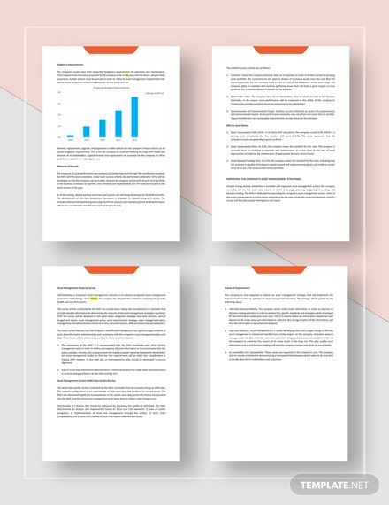 Asset Management Plan Template - Word | Google Docs | Apple