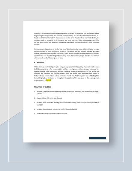 Sample Brand Management Plan