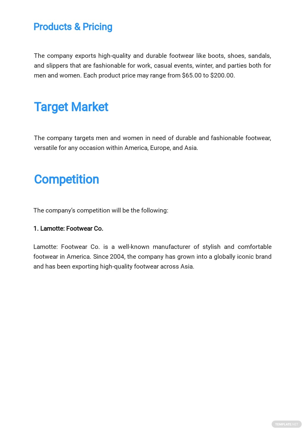 Import Export Business Plan Template [Free PDF]   Google Docs ...
